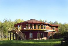 2 Story Yurt Style Home with Deck