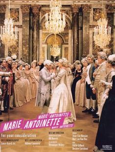 Marie Antoinette. I seriously love this movie beyond words, I've seen it too many times to count.