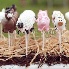 Barn Animals Cake Pops