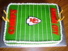 Kansas City Chiefs cake By dixiechick0225 on CakeCentral.com