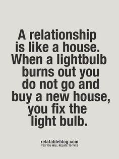 Fix the lightbulb.