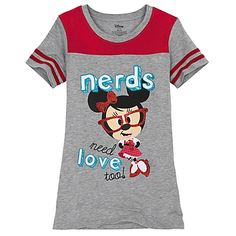 Nerds Jersey Minnie Mouse Tee for Girls  $9.99