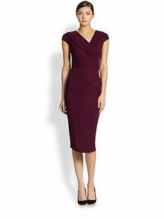 Donna Karan - Cap-Sleeve Draped Jersey Dress - Saks.com, $1995.