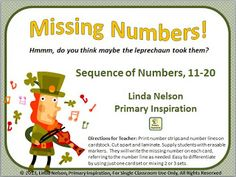 The Leprechauns Took the Numbers - Freebie!