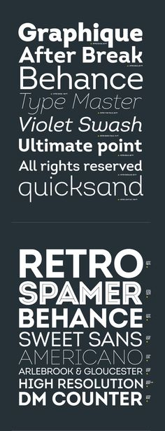 Intro font on the Behance Network