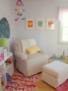 Eclectic, colorful nursery with DIY accents