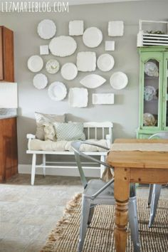 lovely plate wall