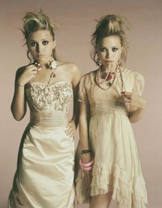 I love this vintage look, Mary Kate and Ashley Olsen