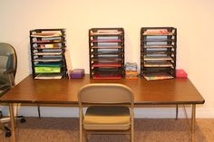 Workboxes and other home school organization ideas