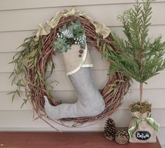 "love the ""believe"" tree and pine cones."