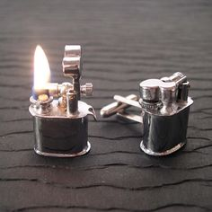 Cool spy gadgets   Cufflinks That Are Also Mini Lighters   New high tech spy gadgets