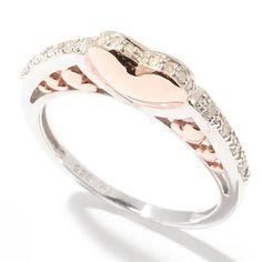 121-522 - Beverly Hills Elegance 0.12ctw Diamond Heart Ring...this is soooo me:)