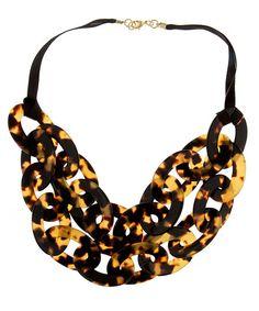Double strand tortoiseshell necklace