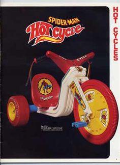 Spiderman  Big Wheel...My buddy had one..So much cooler than my regular big wheel.