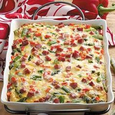 Overnight Asparagus Strata Recipe from Taste of Home -- shared by Lynn Licata Sylvania, Ohio