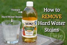 How to Remove Hard Water Stains using @Julie Forrest Forrest 'Lemin' Heinz Vinegar #HeinzVinegar #sponsored