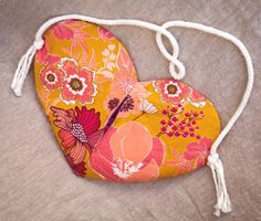 Sweetheart Purse. Wear your heart on your shoulder with this Sweetheart Purse. This DIY purse has a secret zippered pocket in the center. It's a cute sewing project that makes a great Valentine's Day gift for all your friends.