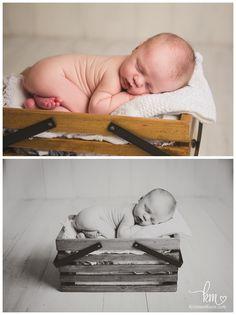 newborn in a basket - newborn boy pose and prop