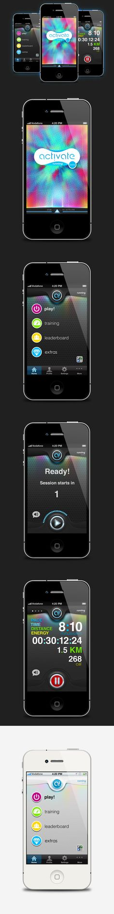 activate! - User Interface Design by Ahmed Al-Adawy, via Behance