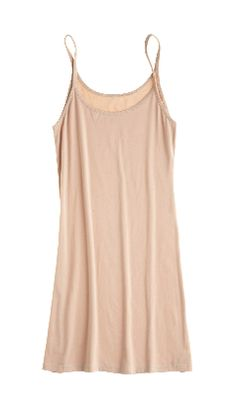 lightweight slip dress with ultra soft stretch cotton makes for the perfect underpinning!