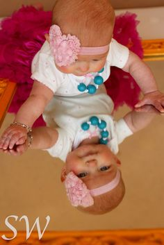Baby girl picture ideas soooo cute for a picture idea..plus we could do this at home :))))