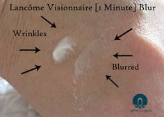 Wrinkles are blurred with Lancôme [1 Minute] Visionnaire Blur #PhotoPerfectSkin @lancomeusa via @agirlsgottaspa #ad