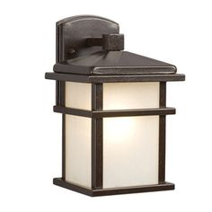 front porch Galaxy�10.5-in H Bronze Outdoor Wall Light $70