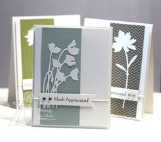 "By Jennifer Shults. She used Taylored Expressions ""Stem Silhouettes"" dies. I'd use Memory Box dies. Lovely, quick card!"
