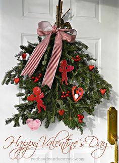 Valentine's Day Swag Wreath from your Christmas Tree