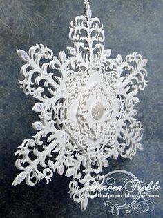 A Path of Paper: Heartfelt Creations 3D Snowflake and Card