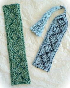 Beaded Knitted Bookmarks $6.00 pattern