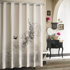 Anthology Amour Fabric Shower Curtain - Bed Bath & Beyond