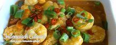 Udang Masak Kuning - Pittige garnalen in een gele kokossaus - Spicy shrimp in a yellow coconut sauce