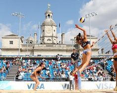 Beach Volleyball on Horse Guards Parade in central London