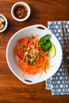 Spicy Carrot Coconut Noodles