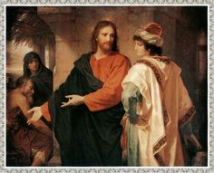Christ and the Rich Young Man  Painting by Heinrich Hofmman