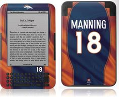 Skinit Peyton Manning -Denver Broncos Vinyl Skin for Amazon Kindle 3 $24.95