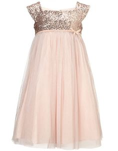 Marianna Dress Gold/Blush $84  Jr bridesmaid or register attendant hopefully this comes back in stock - SOOO cute