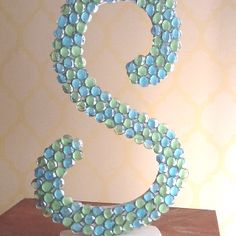 "Glass gems on the initial ""s""....personalized housewarming gift!"