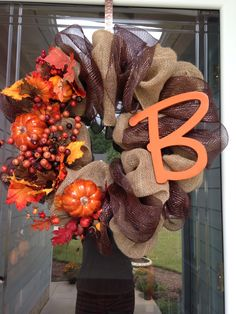 Fall wreaths! Made this one myself :)