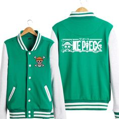 One Piece new classical One Piece logo hoodie sweatershirt with buttons