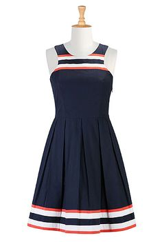 Racerback fit-and-flare dress