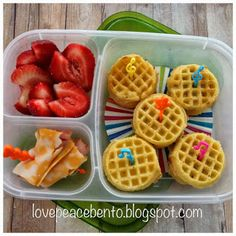 Mini waffle sandwiches inspired by @Laura Jayson Fuentes/ MOMables.com Lunches.