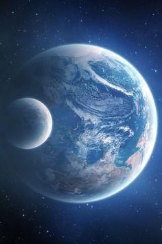Planet Earth Moon