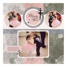 Dance Scrapbooking Layout from Creative Memories