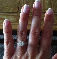 Ritani Cushion-Cut Halo Engagement Ring