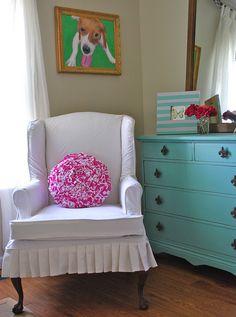 White Wing Chair Slipcover by The Slipcover Girl, via Flickr