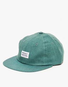 Linen Flat Cap in Pale Teal by Need Supply