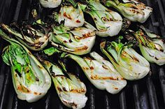 Grilled Baby Bok Choy with Lime Dressing