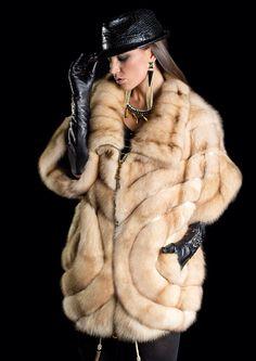 Bleached Russian Sable Fur Coat